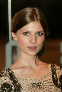 Clemence Poesy at the premiere of