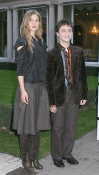 Clemence Poesy and Daniel Radcliffe at the photocall of