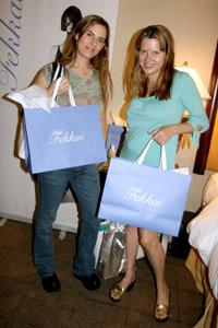 Lati Grobman and Heidi Jo Markel at the DPA Gifting Lounge during the 2008 Toronto International Film Festival.