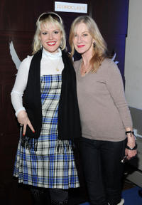Caroline Lagerfelt and Guest at the Grey Goose Iconoclast Sixth Season Launch and Panel Discussion Cocktail party in Utah.
