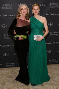 Caroline Lagerfelt and Kelly Rutherford at the School of American Ballet Winter Ball 2012.
