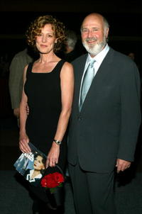 Christine Lahti and Rob Reiner at the world premiere screening of