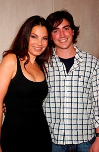 Fran Drescher and Ben Feldman at the Rosie O'Donnell's opening night performance of