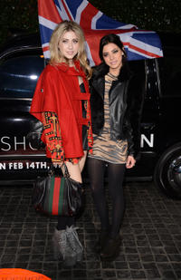 Gia Mantegna and Gina Mantegna at the opening party of Topshop Topman LA.