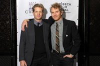 Paul Sparks and Brian Gattas at the after party of