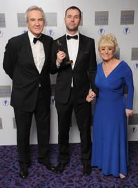 Larry Lamb, Michael Wynne and Barbara Windsor at the Laurence Olivier Awards in England.