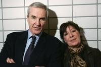Larry Lamb and Roberta Taylor at the launch of Statutory Charging Scheme at Lewisham Police Station.