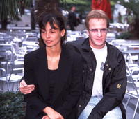 Christopher Lambert and Ines Sastre at the premiere of