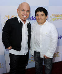 Martin Klebba and Mark Povinelli at the California premiere of
