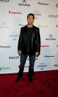 Colby Donaldson at the Oxfam event honoring Emile Hirsch.