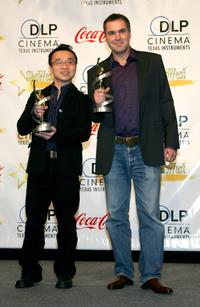 Raman Hui and Chris Miller at the ShoWest 2007 Awards ceremony.