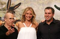 Jeffrey Katzenberg, Cameron Diaz and Chris Miller at the Korean premiere of