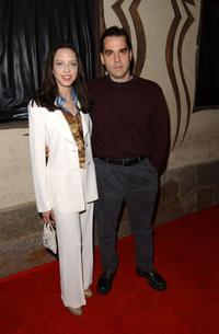 Juliet Landau and her boyfriend Carl Bury at the My-Tee Fashion Show and Summer Party.