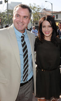 Director Chris Miller and Latifa Ouaou at the California premiere of