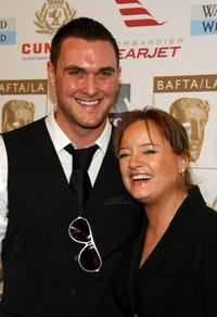 Owain Yeoman and Lucy Davis at the BAFTA/LA's 14th Annual Awards Season Tea party.