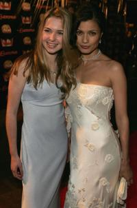 Kirsten Prout and Natassia Malthe at the premiere of