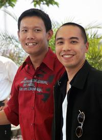 Sakda Kaewbuadee and Apichatpong Weerasethakul at the photo call of