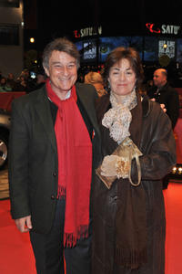 Arturo Goetz and guest at the premiere of