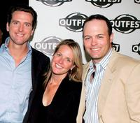 Gavin Newsom, Hilary Newsom and Geoff Callan at the screening of