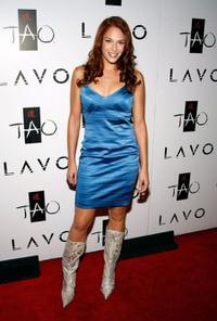 Amanda Righetti at the Tao Nightclub at Venetian Resort Hotel Casino.