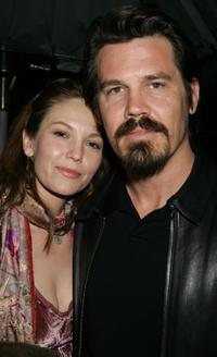 Diane Lane and Josh Brolin at Crown Royal and Tab Energy Drink's Cool Down Post Award Season Party in Los Angeles.