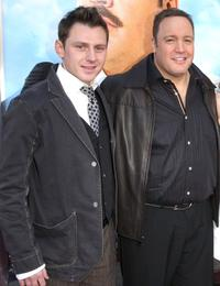Keir O'Donnell and Kevin James at the premiere of