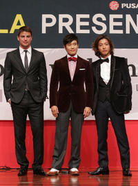 Josh Hartnett, Lee Byung-Hun and Takuya Kimura at the press conference of gala presentation of