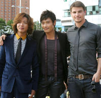 Takuya Kimura, Lee Byung-Hun and Josh Hartnett at the open talk of