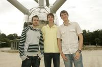 Matthew Lewis, Oliver Phelps and James Phelps at the photocall of