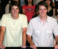 Oliver Phelps and James Phelps at the screening of