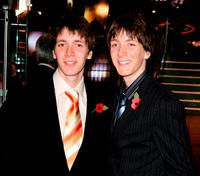 James and Oliver Phelps at the world premiere of