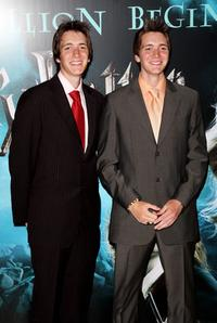 James and Oliver Phelps at the European premiere of