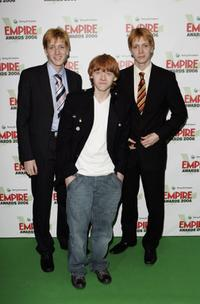 James Phelps, Rupert Grint and Oliver Phelps at the Sony Ericsson Empire Film Awards 2006.