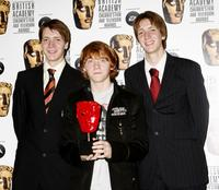 Oliver Phelps, Rupert Grint and James Phelps at the 11th British Academy Children's Film and Television Awards.