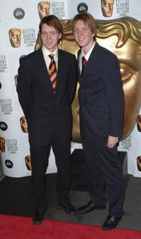 Oliver Phelps and James Phelps at the British Academy Children's Film and Television Awards 2006.