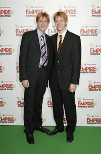 James Phelps and Oliver Phelps at the Sony Ericsson Empire Film Awards 2006.