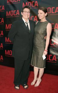 k.d. lang and Jamie Price at the opening gala for MOCA's Robert Rauschenberg Exhibition at Moca.