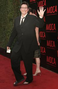k.d. lang at the opening gala for MOCA's Robert Rauschenberg Exhibition at Moca.