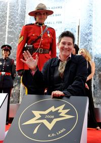 k.d. lang at the 2008 Canada's Walk of Fame.