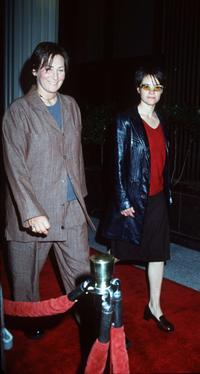 k.d. lang and Leisha Hailey at the premiere of