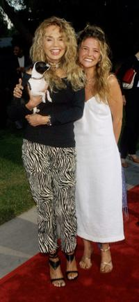 A.J. Langer and Dyan Cannon at the NBC Summer Press Tour All-Star party.