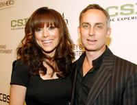 Liz Vassey and Wallace Langham at the grand opening of