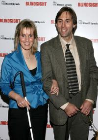 Sabriye Tenberken and Erik Weihenmayer at the premiere of