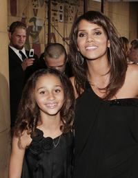 Alexis Llewellyn and Halle Berry at the premiere of