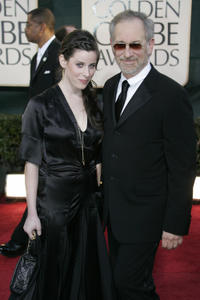 Sasha Spielberg and director Steven Spielberg at the 64th Annual Golden Globe Awards in California.