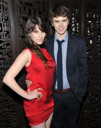 Sasha Spielberg and Freddie Highmore at the after party of the New York premiere of