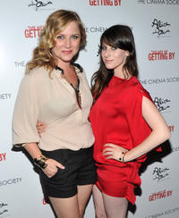 Jessica Capshaw and Sasha Spielberg at the New York premiere of