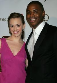 Andrea Bowen and Nashawn Kearse at the 14th Annual Elton John Academy Awards viewing party.