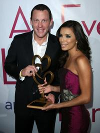 Lance Armstrong and Eva Longoria at the evening with Larry King and friends charity fundraiser.