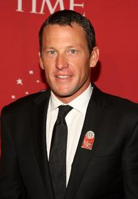 Lance Armstrong at the TIME's 100 Most Influential People Gala.